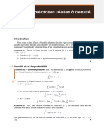 Proba-Variables aléatoires réelles à densité