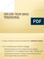 CIRI-CIRI TEORI NAHU TRADISIONAL