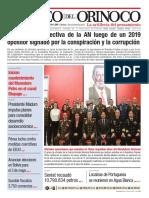 Edición Impresa Correo del Orinoco N° 3.662 Domingo 5 de Enero de 2020