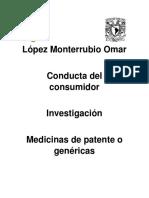 investigacion medicamentos genericos o de patente