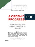 Resumo Ordem do Progresso