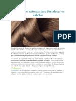 4 Remédios naturais para fortalecer os cabelos