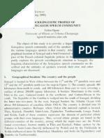 A Sociolinguistic Profile Ofthe Senegalese Speech Community
