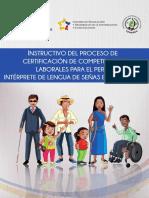 Instructivo proceso certificación interprete lengua de señas ecuatoriana