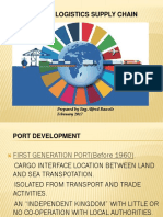 PORT AND LOGISTICS SUPPLY CHAINS