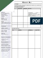 IU Resume Format - SAMPLE
