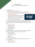 Soal Strategi Pemasaran