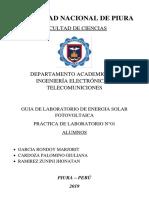 INFORME DE PANELES SOLARES DICIEMBRE 2019