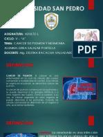 CANCER DE PULMON Y NEUMONIA