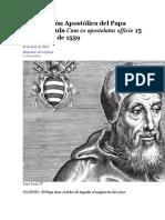 Constitución Apostólica del Papa Paulo IV bula