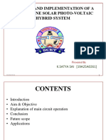 CONTROL AND IMPLEMENTATION OF SOLAR PHOTO VOLTAIC HYBRID