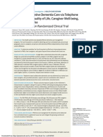 Effect of Collaborative Dementia Care via Telephone - 2019