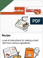 Standardize Recipe. Guidelines.ppt