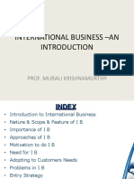L1 INTERNATIONAL BUSINESS –AN INTRODUCTION