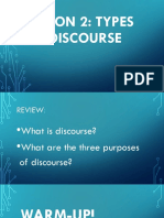 lesson2 types of discourse