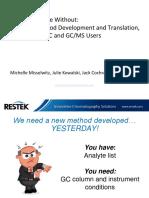 00. GC methode development Restek