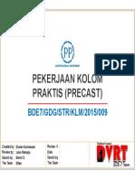 9. Pekerjaan  Kolom Praktis (Precast)