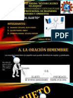 Tema El Sujeto DIAPOSITIVA