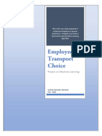Analysis of Transport Choice of Employees - A Project on Machine Learning