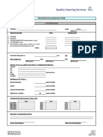 QCD 10- Provision Requisition Form