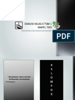 DISKUSI KELAS X TSM 1 MAPEL TDO