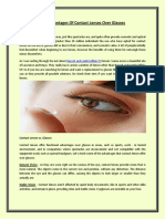 The Advantages of Contact Lenses Over Glasses