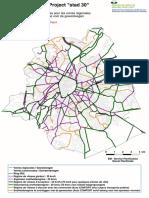 Bruxelles - La carte provisoire des voiries structurantes 30/50/70 km/h