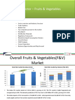 Food Sector – Fruits & Vegetables
