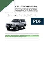 Nissan Patrol fuse box
