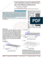 A Review Paper on Fin Efficiency Enhancement