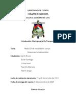 MEDICION DE VARIABLES EN CAMPO