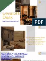 Interior Designing Firm in Delhi - Creators Desk