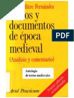 Mitre Fernandez Emilio - Textos Y Documentos De La Epoca Medieval.pdf