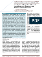 Experimental Investigation of Properties of Concrete with Partial Replacement of Aggregates with Industrial and Construction Waste