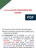 Méthodes de conservation des viandes