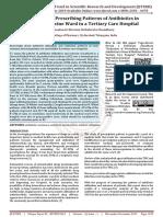 Evaluation of Prescribing Patterns of Antibiotics in General Medicine Ward in a Tertiary Care Hospital
