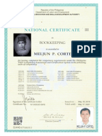 MELJUN CORTES TESDA License NC III Bookkeeping