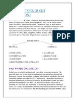 PURIFICATION OF CNTs