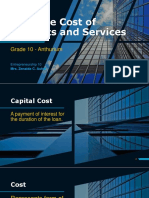 Estimate Cost of Products and Services in Entrepreneurship 10