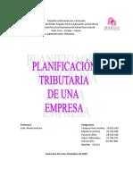 Trabajo Planificacion Tributaria