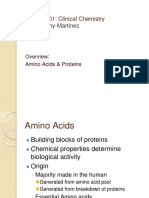 Amino Acids and Proteins Overview