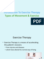 Types of movement &, exercise