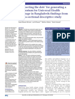 'Connecting the dots' for generating a momentum for Universal Health Coverage in Bangladesh- findings from a cross-sectional descriptive study