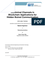 Subliminal Channels in Blockchain Applications for Hidden Botnet Communication
