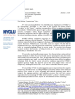 January 2020 NYCLU Letter Re Lockport