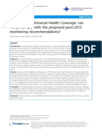 Indicators for Universal Health Coverage- can Kenya comply with the proposed post-2015 monitoring recommendations?