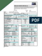 Diseño Concreto 210 y 175 iquicha