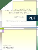 EAT 233 – ENVIRONMENTAL ENGINEERING SKILL - SURVEYING - LEVELLING.ppt