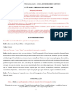 RITO DE TOTAL CONSAGRAÇÃO À NOSSA SENHORA PELO MÉTODO São Luis maria Grignion de Montfort f