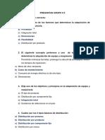 PREGUNTAS GRUPO 5. EVALUACIÓN DE PROYECTO